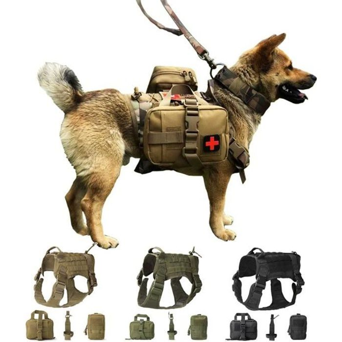Harnais militaire pour Chien, gilet tactique Szelki Dla Psa, accessoires, carlin Pitbull