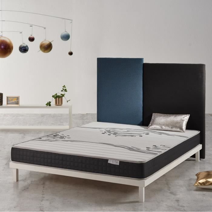 Matelas GENESIS 160x200 cm en mousse AeraPur® ultra-respirante + ACTIVE LATEX® à 7 zones de confort COSMOS®