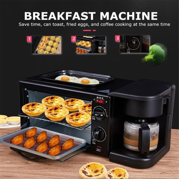 NEUFU 3 en 1 Machine à petit déjeuner multifonctions 220V