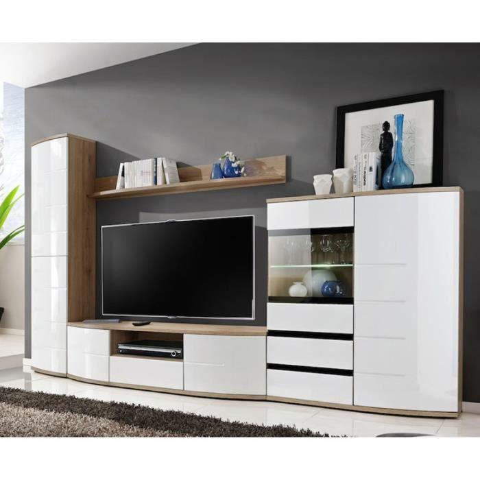 Meuble Tv Design -ontario- 300cm Blanc - Paris Prix