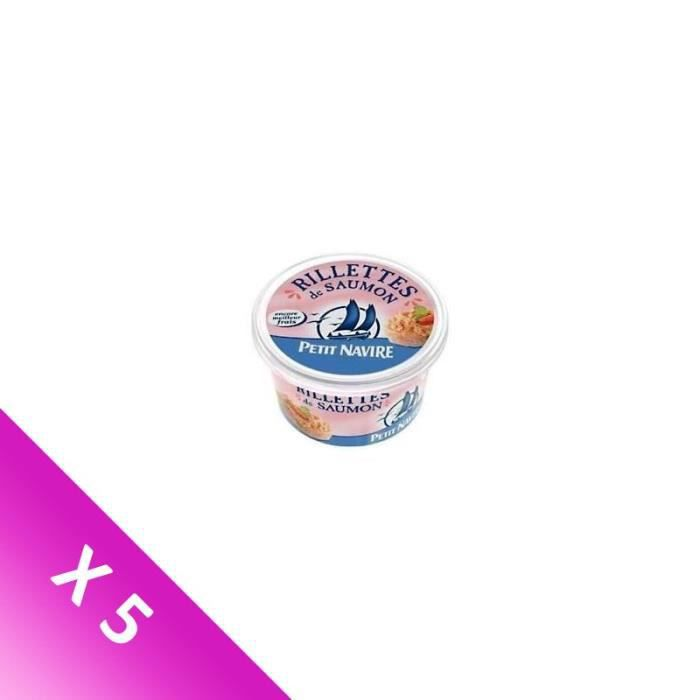 [LOT DE 5] Rillettes saumon 125 g Petit Navire