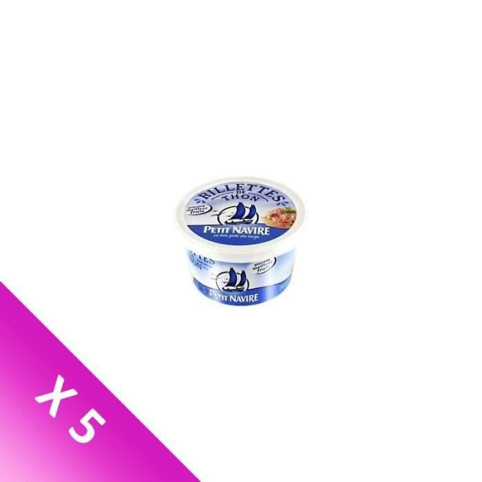 [LOT DE 5] PETIT NAVIRE Rillettes de thon - 125 g