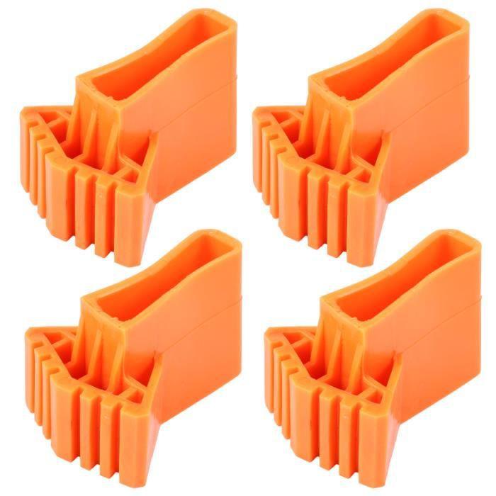 4 pièces couverture professionnelle de haute qualité durable en caoutchouc pieds tapis échelle PIECE DETACHEE MATERIEL CHANTIER