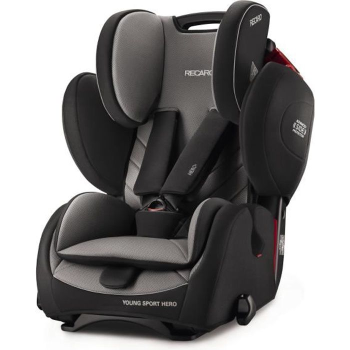 RECARO Siège Auto Young Sport HERO - Groupe 1/2/3 - Carbon Black