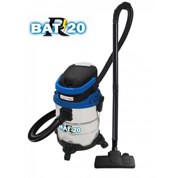 Aspirateur industriel eau poussière sur batterie (sans fil) + avec chargeur