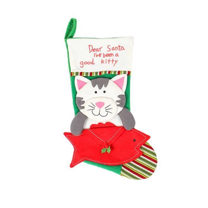 Bas de Noël enveloppe chaussette chaussettes chaussettes chaussettes pour animaux de compagnie chaussettes de Noël atmos,ation 1 pc