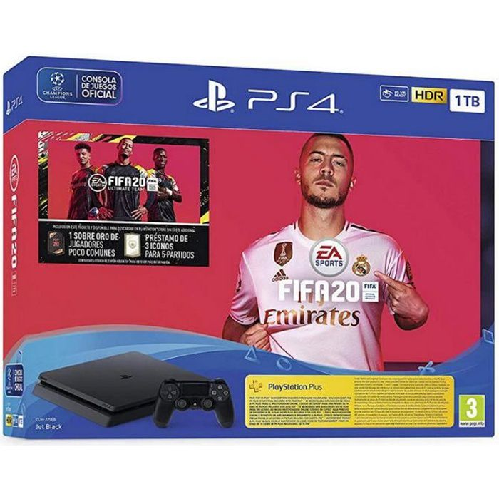 Sony PlayStation 4 Slim 1To + FIFA 20 Ultimate Team + PS Plus 14 Jours + 1 Manette DualShock 4 V2