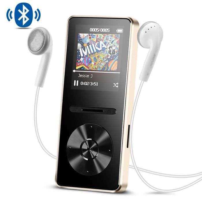 LECTEUR MP3 AGPTEK MP3 Bluetooth 4.0 en Métal Lecteur 8Go Bala