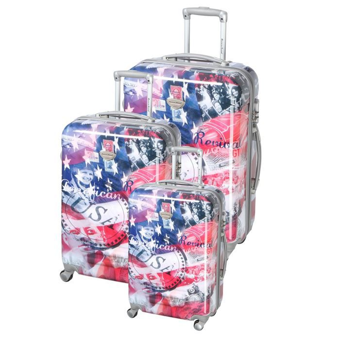 SET DE VALISES AMERICAN REVIVAL Set de 3 valises trolley KENNEDY