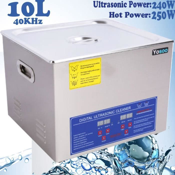 Machine Nettoyage à Ultrason 10L