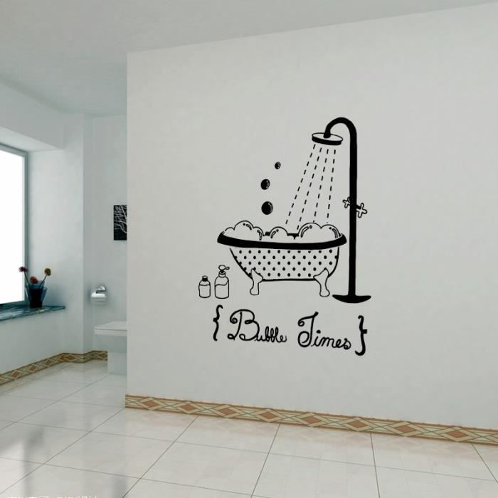 Noir Creative Stickers Muraux Pour Salle De Bain Decoration A La Maison Bathroom Sticker Fond Decran
