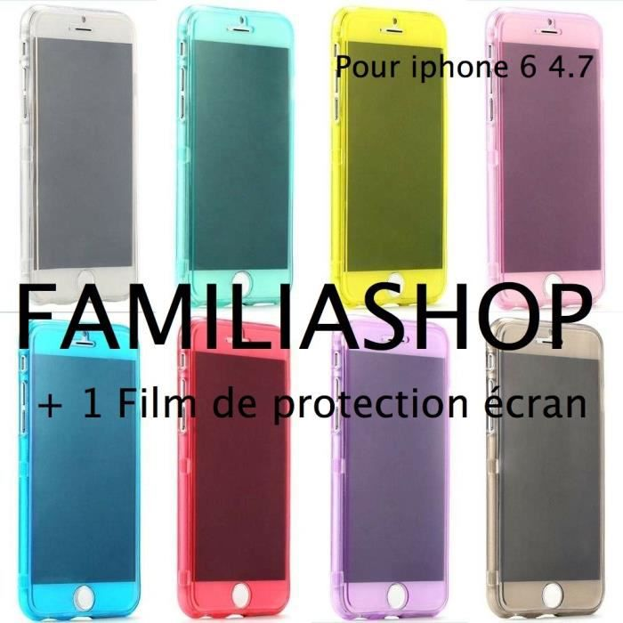 Etui silicone rabat clapt iphone 6 4 7 film achat for Housse silicone iphone 7