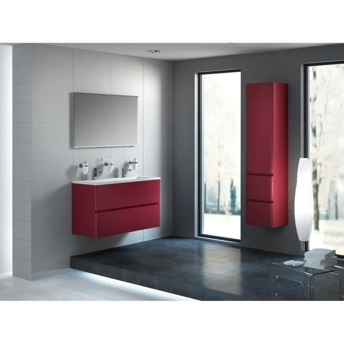 meuble de salle de bain rouge laqu mat achat vente. Black Bedroom Furniture Sets. Home Design Ideas