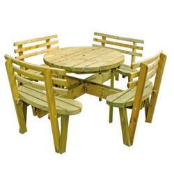 table picnic ronde 1602 bois achat vente table de pique nique table picnic ronde 1602 bois. Black Bedroom Furniture Sets. Home Design Ideas