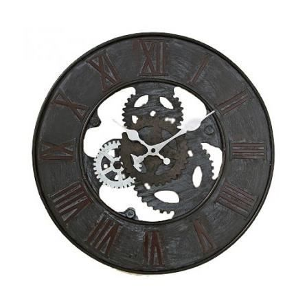 horloge murale style industriel en m tal brian achat. Black Bedroom Furniture Sets. Home Design Ideas