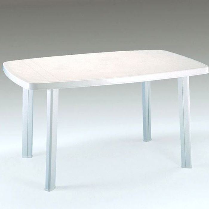 PP TABLE FARO BLANCHE 140X90