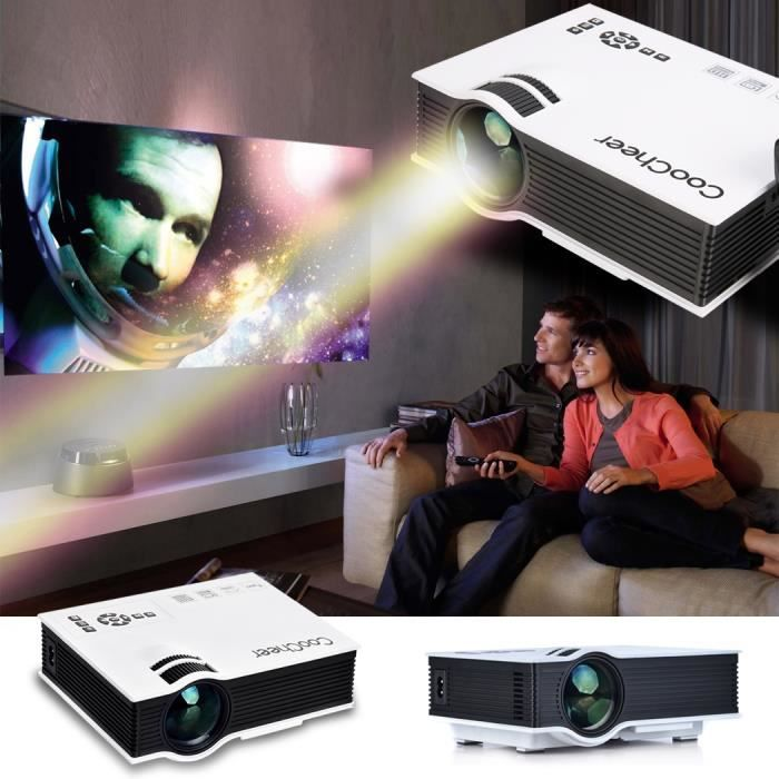 vid oprojecteur coocheer 800 lumens led multim dia portable home cin ma lcd afficher. Black Bedroom Furniture Sets. Home Design Ideas