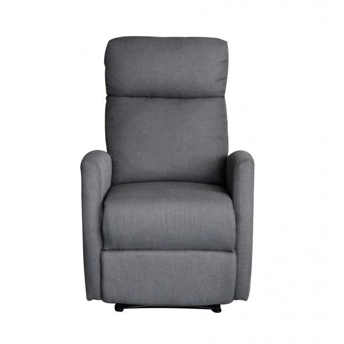 fauteuil releveur manuel pu gris owen achat vente fauteuil gris cdiscount. Black Bedroom Furniture Sets. Home Design Ideas