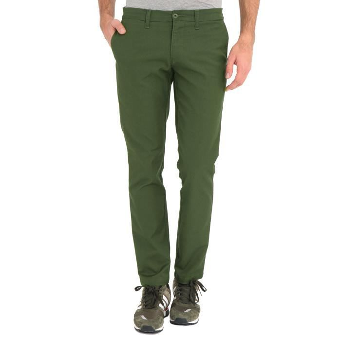 chino slim kaki sid pour homme vert achat vente pantalon cdiscount. Black Bedroom Furniture Sets. Home Design Ideas