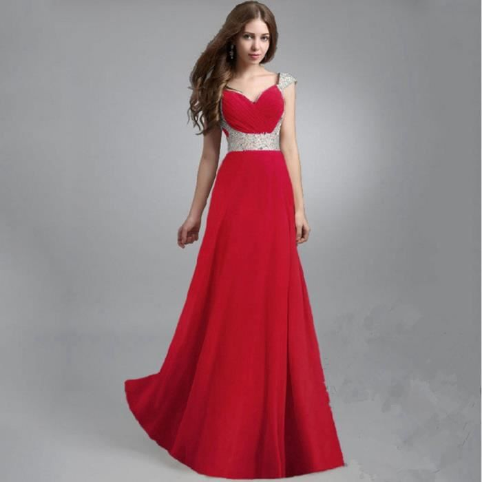 Robe de soirée cocktail Classe robes rouge