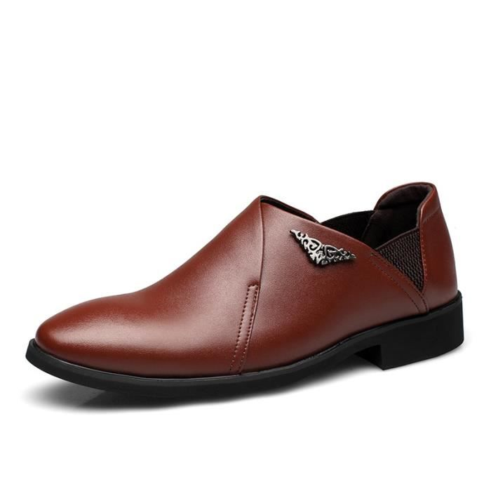 IZTPSERG Mocassin Chaussure en PU Cuir Homme d'Affaires Casual
