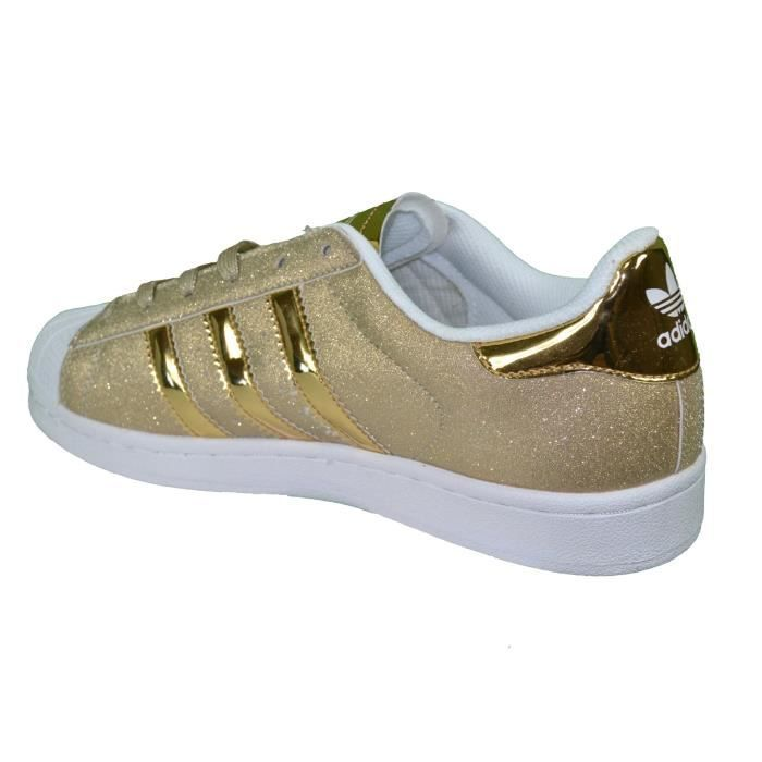 Paillettes Jaune Or Baskets Originals Adidas Superstar Blanc fxngUZqz