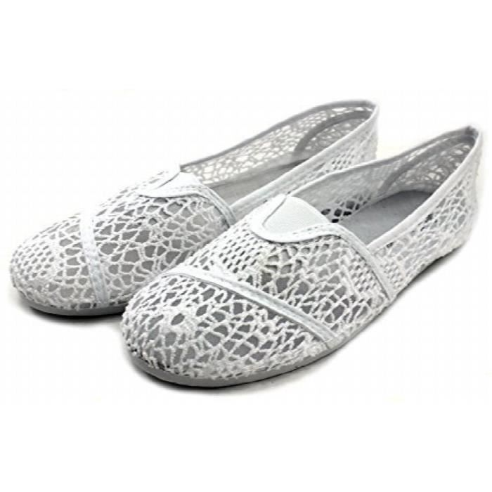 Slip Canvas On Shoe Fashion Flats Espadrilles JIB7X Taille-39 1-2 OrfNdx5KK