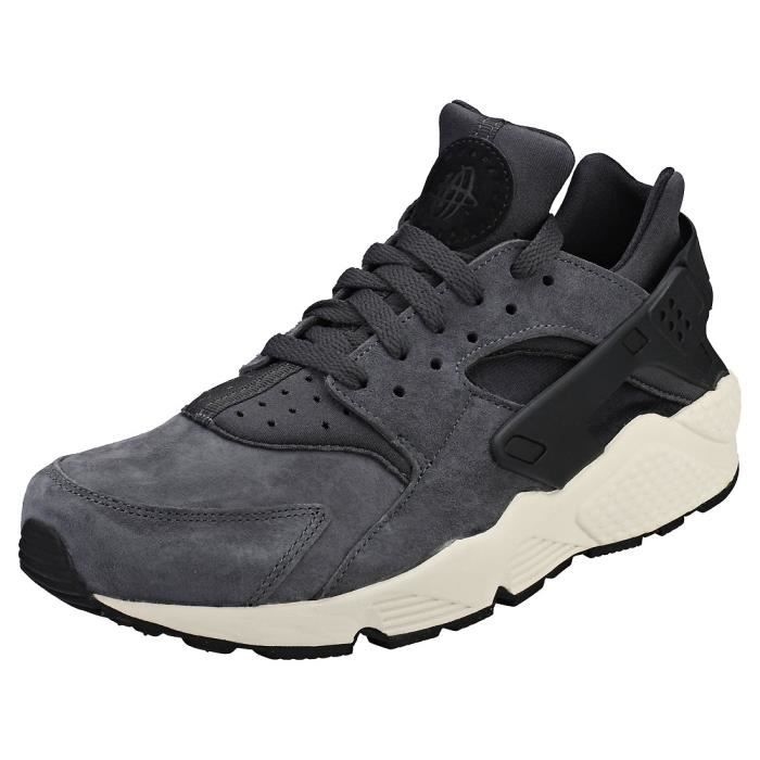 meet e02fe 5051f BASKET Nike Air Huarache Run Premium Homme Baskets Gris N
