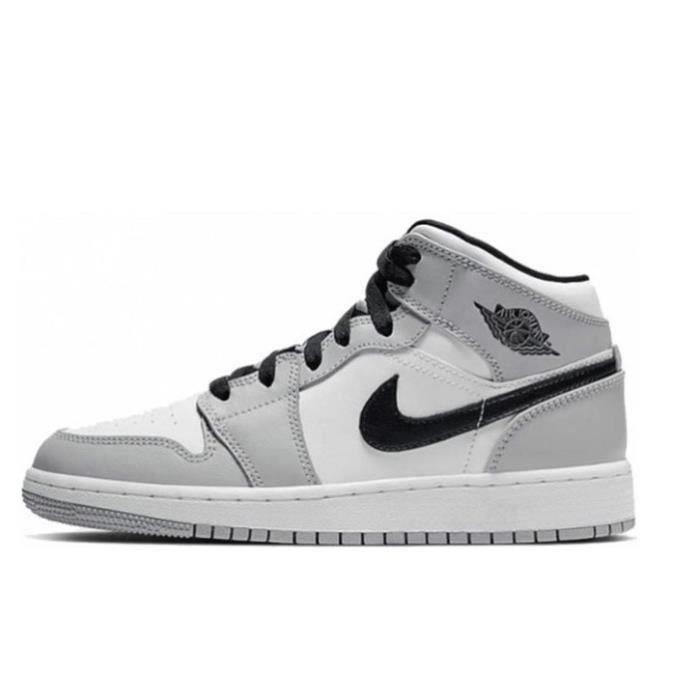 Air Jordan 1 Mid Light Smoke Grey Baskets grises Chaussure ...