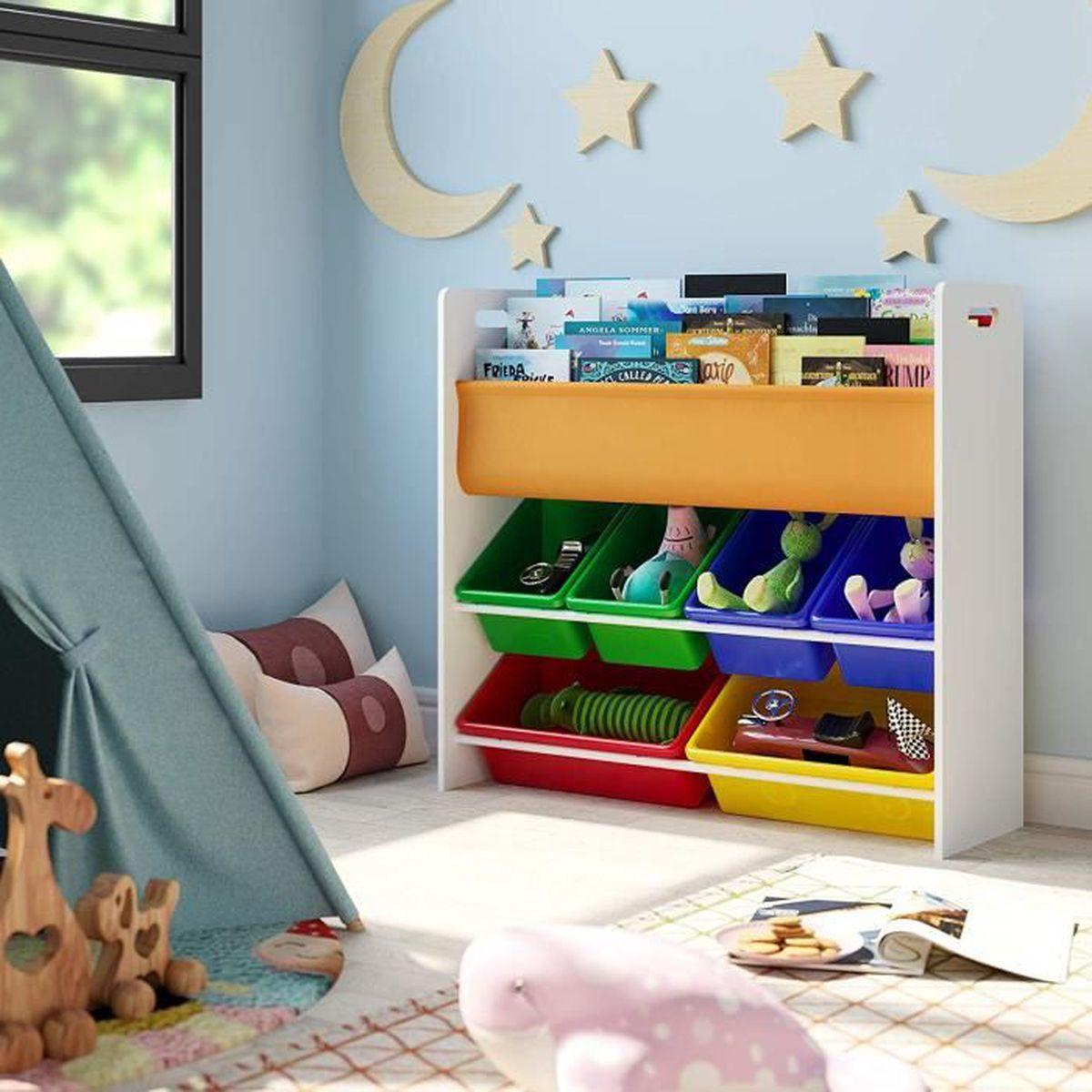 Etagere Pour Chambre Enfant homfa meuble de rangement Étagère pour jouets enfants porte