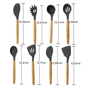 LOT USTENSILES Tonsee®8pcs Kitchen ustensiles de cuisine ensemble