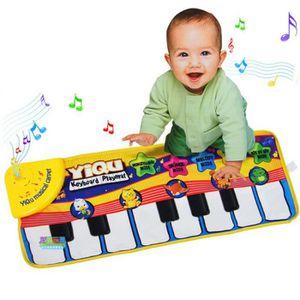 TAPIS ÉVEIL - AIRE BÉBÉ 72x29cm Jouet Instrument de Musique Piano Tapis Év