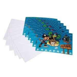 FAIRE-PART - INVITATION 6 cartes d'invitation avec enveloppes Pirate