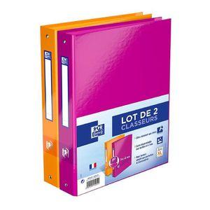 mod/èle orange Grafopl/ás 88171989 Jocelyn Proust Classeur /à 4 anneaux mixtes 40 mm A4