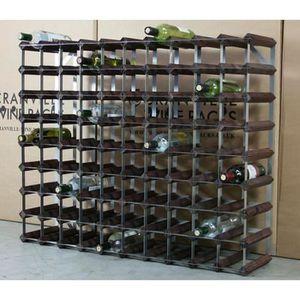 MEUBLE RANGE BOUTEILLE Classique en bois de Wine Rack 90 Bouteille et mét