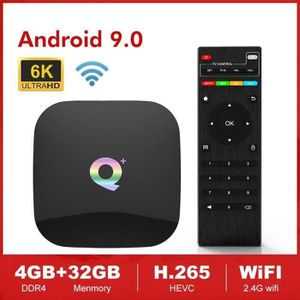 BOX MULTIMEDIA Smart TV Android 9.0 Q Plus (+) Allwinner H6 4GB 3