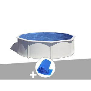 PISCINE Kit piscine acier blanc Gré Wet ronde 4,80 x 1,22