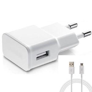 CHARGEUR TÉLÉPHONE Chargeur secteur/USB + Câble USB/Micro-USB Univers