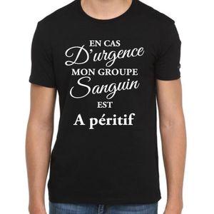 T-SHIRT T-shirt APÉRITIF tee-shirt en cas d'urgence mon gr