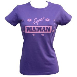 T-SHIRT T-shirt femme manches courtes - Super maman - viol