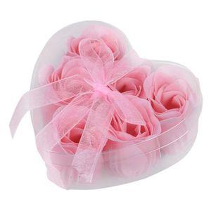 SAVON - SYNDETS 6 x Savon de bain en forme de fleur Rose + Boite e