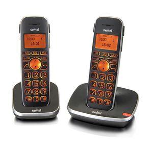 Téléphone portable SWITEL D102 Téléphone sénior sans fil DUO, amplifi