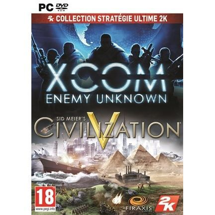 JEU PC PACK STRATEGIE CIVILIZATION V + XCOM / PC