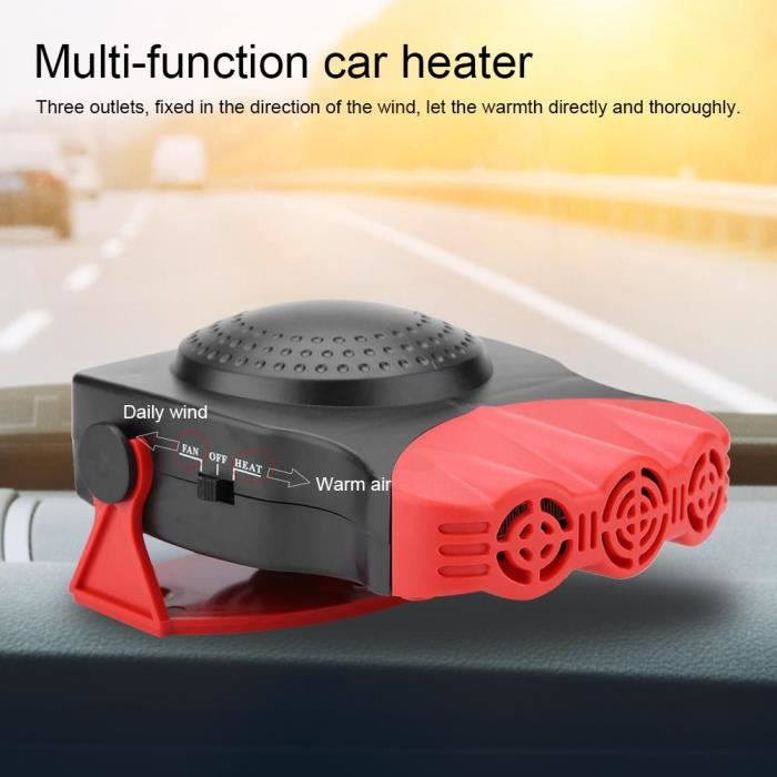 2 En 1 12V 150W dégivreur de chauffage de voiture Portable Ventilateur de chauffage Dégivreur de pare-brise