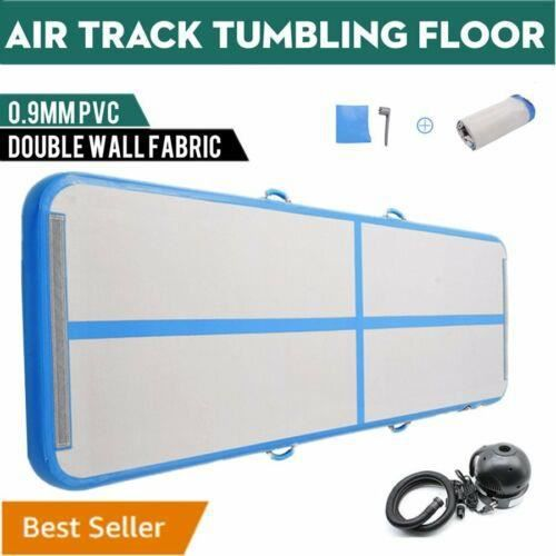 4M Airtrack Air Track Floor Gymnastique gonflable Tumbling Mat GYM w / Pump ~ Blue