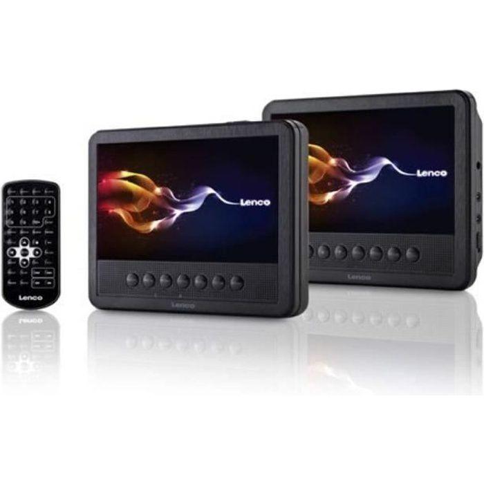 Lenco MES-212 Convertible 7- Noir - Lecteurs DVD-Blu-Ray Portables (Convertible, Noir, CD Audio, CD vidéo, CD,DVD, 17,8 cm (7-),