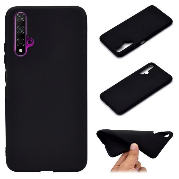 Coque silicone gel pour Huawei Nova 5T noire