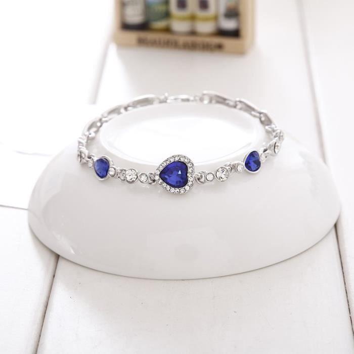 Bracelet - Coeur De L'Océan - Titanic - Argenté/Bleu