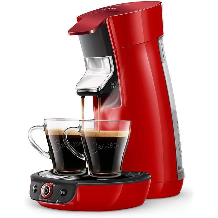 Machine à café à dosettes SENSEO Viva Café Duo Select Rouge Scintillant