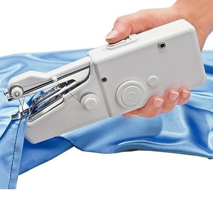Portable mini machine à coudre portatif vêtements sans fil Stitch rapide voyage à domicile